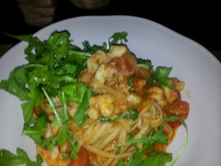 Prawn pasta at jamies italian perth