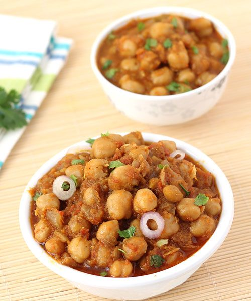 Punjabi Special Chole Chana Masala - Serve with Bhatura, Onion Salad and Lassi in Lunch or Dinner or as a Party Snack - Step by Step Photo Recipe