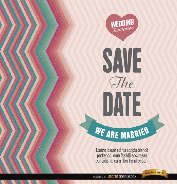 Save the date template illustration Free Vector