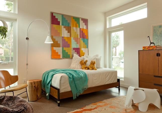 .: Guest Room, Child Room, Kids Bedrooms, Modern Prefab Home, Quilt, Modern Kids, Jamie Bush, Kids Room, Kid Rooms