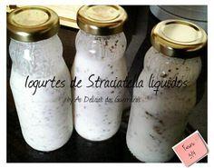 As Delícias das Guerreiras: Iogurtes de Straciatella líquidos