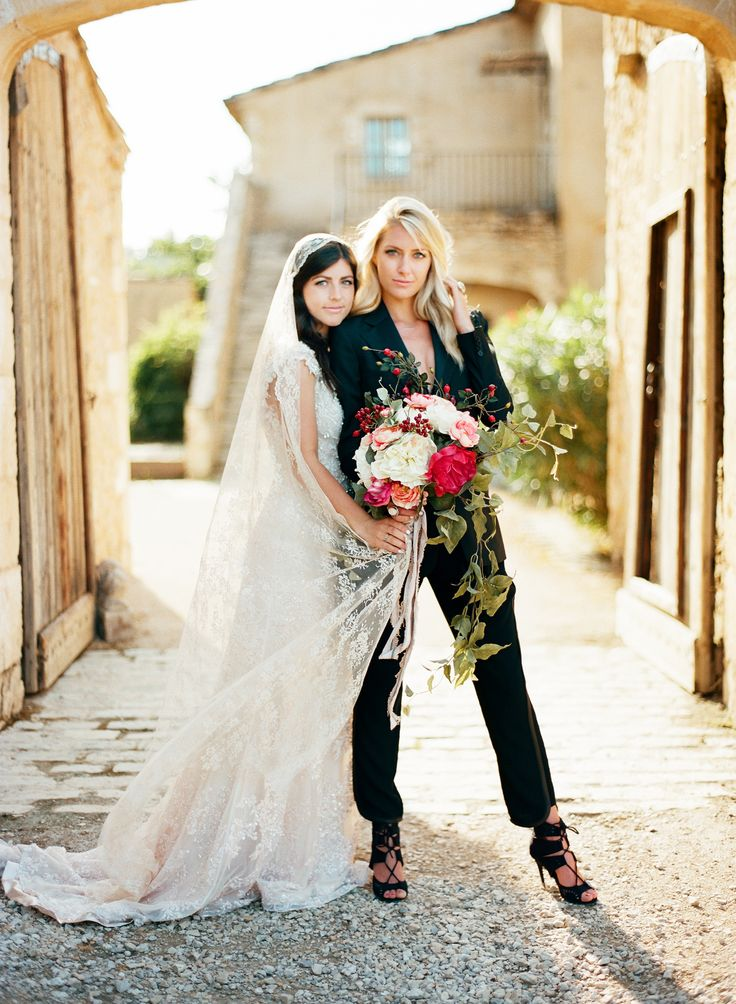 1549 best images about lesbian wedding ideas on pinterest for Lesbian wedding dresses and suits