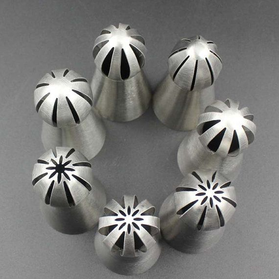 7 PCs Russia Icing Piping Nozzles Pastry Cream Cake by HNGFan