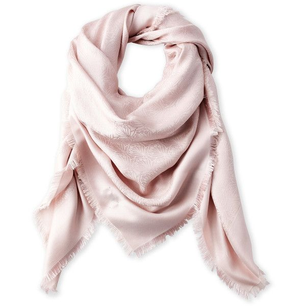 Liberty Of London Jacquard Wool Blend Scarf ($100) ❤ liked on Polyvore featuring accessories, scarves, pink, woven scarves, liberty scarves, pink scarves and pink shawl