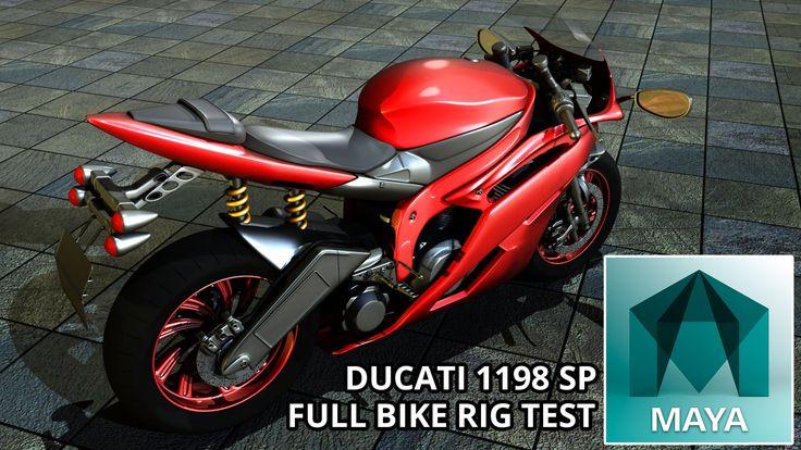 Autodesk Maya 2015 Ducati Super Bike 1198 SP Full Motor Bike Rig (Free 3...
