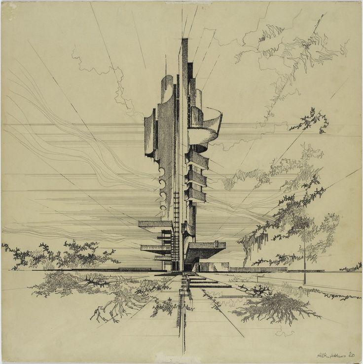 Aldo Loris Rossi, Unité urbaine verticale, Sviluppo 1960