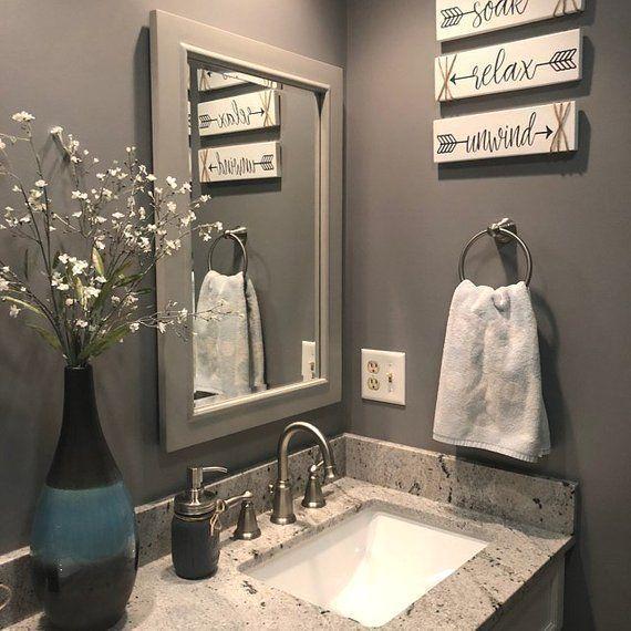 Fantastic Pics Bathroom Signs Rustic Concepts Bathroom Mirror Bathroom Wall Decor Rustic Bathroom Decor