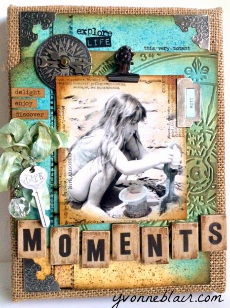Life's little details...: CC3Challenge 12... Yvonne's altered burlap panel with beach theme