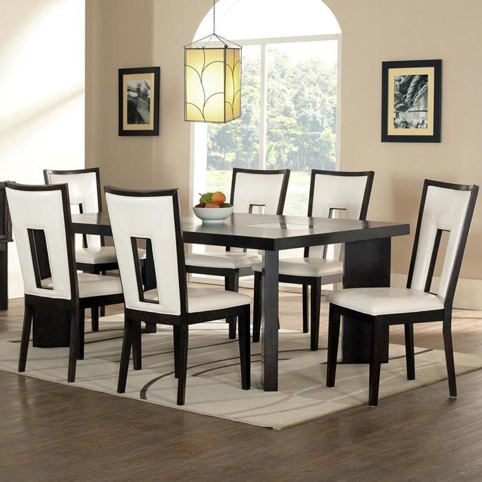 Delano 7 Piece Dining Set In Dark Brown