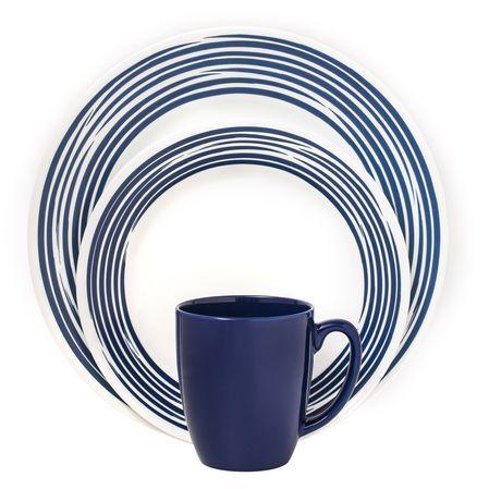 #Corelle Boutique™ Brushed 16-Pc Dinnerware Set, Cobalt Blue // buy at www.corelle.com