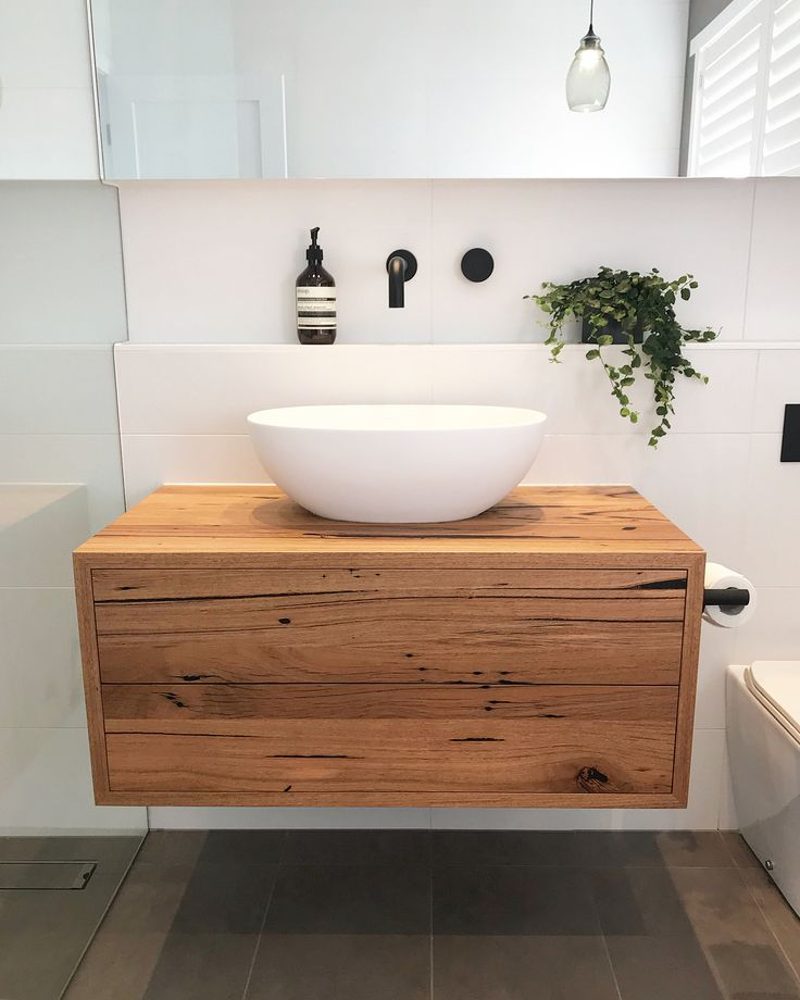 "182 Likes, 18 Comments - Bespoke Timber Design (@bespoketimberdesign) on Instagram: ""Love this! Amazing bathroom by @troykoop featuring a Bespoke floating recycled Messmate vanity.…"""