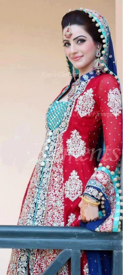Pakistani bridal couture.