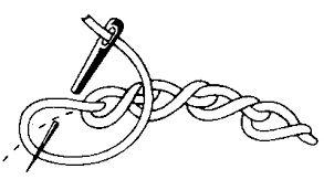 Resultado de imagem para twisted chain stitch