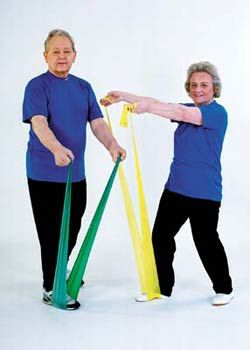 Senior Citizen hip exercises. We do these every morning in our building!