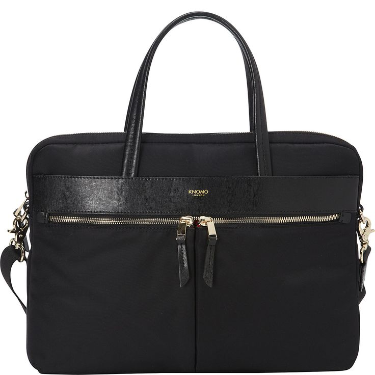 "Buy the KNOMO London Hanover 14"" Slim Briefcase at eBags - Tote your laptop to and from work inside this sleek nylon briefcase from KNOMO London. The KNOMO Lon"