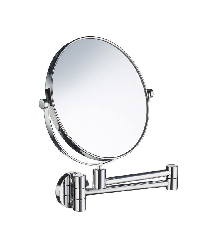 Smedbo SME_FK430 Mirror Wall mount, Polished Chrome. Shaving and make-up mirror swivel arm in Polished Chrome. Wall mount. Two sides, normal and magnifies 3 times.