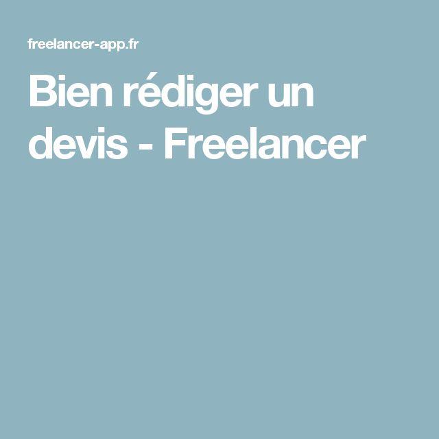 Bien rédiger un devis - Freelancer