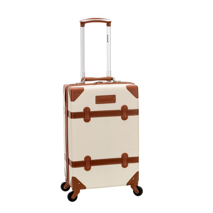 Stage Coach 20 in. Rolling Trunk, White