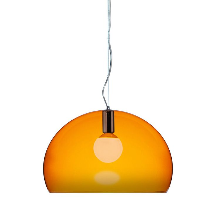 Discover the Kartell FL/Y Ceiling Light - Orange at Amara