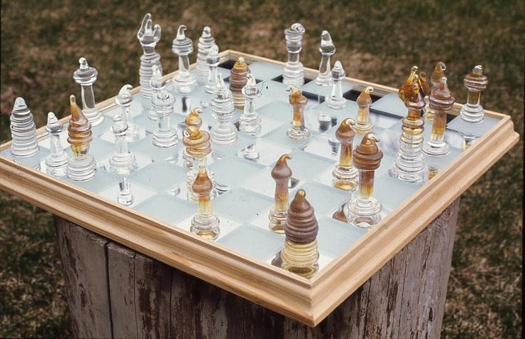 Lampwork chess set