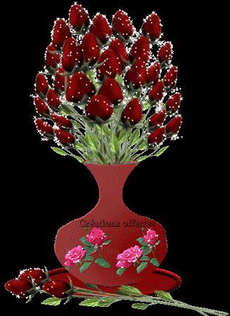 GIFS Animados | Rosas de Color Rojo - 1000 Gifs