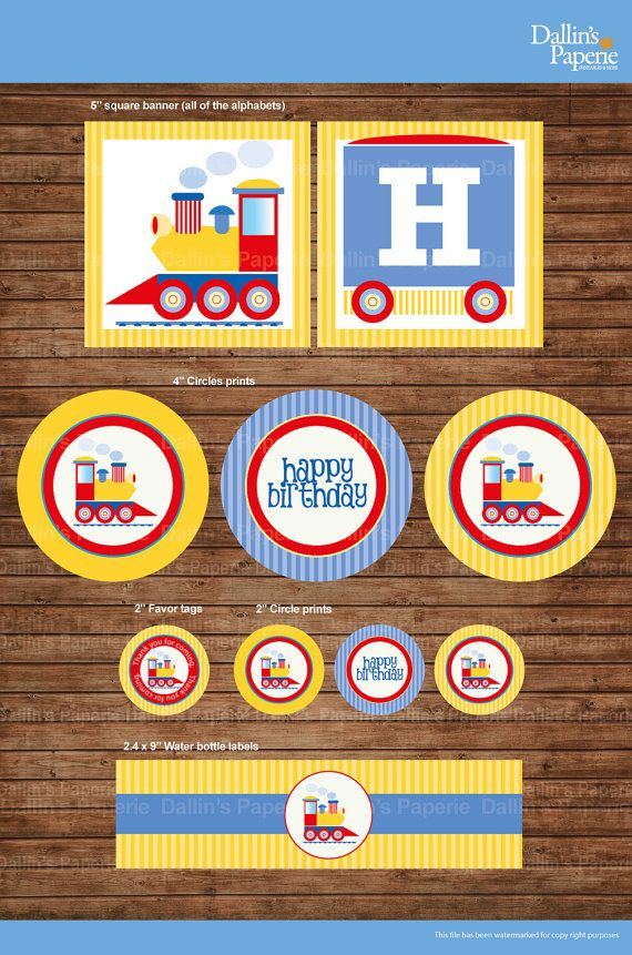 Choo Choo Train Birthday Party DIY Printable by DallinsPaperie, $15.00