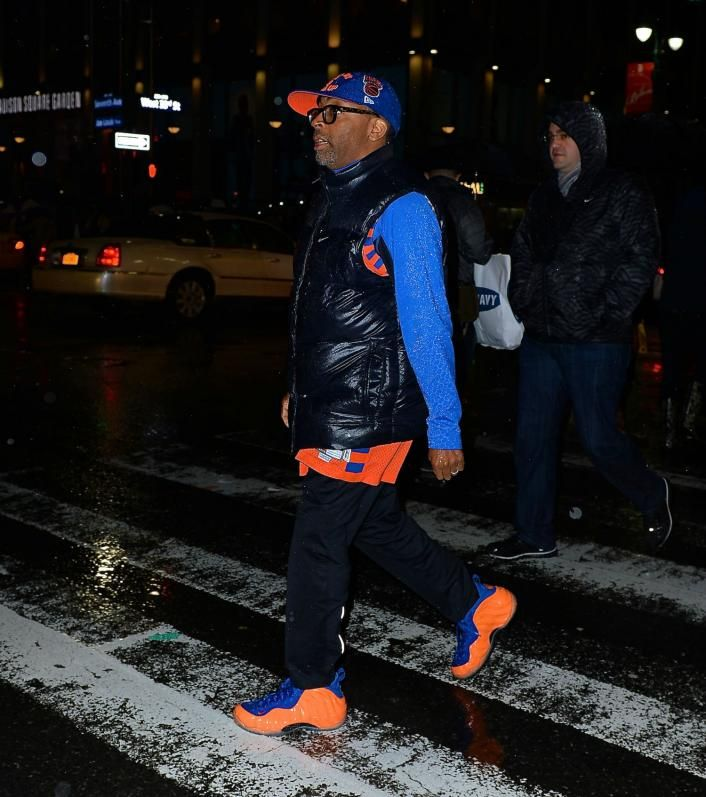 Spike Lee Rocks Knicks Foamposites
