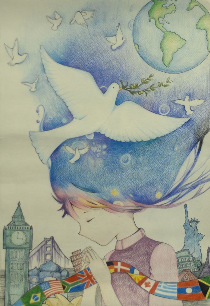 Merit Award Winner Xuan Emma Lu from Canada: Lions Clubs International 2012-2013 Peace Poster Contest