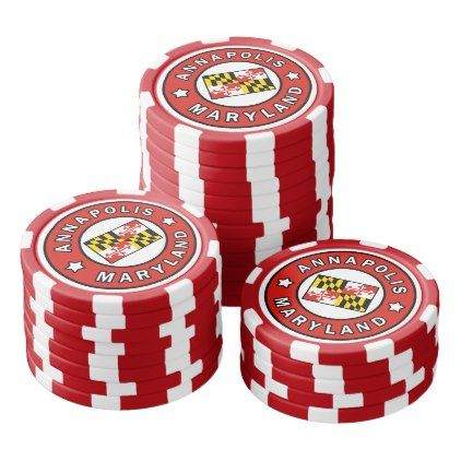 Annapolis Maryland Poker Chips Set - spring gifts beautiful diy spring time new year