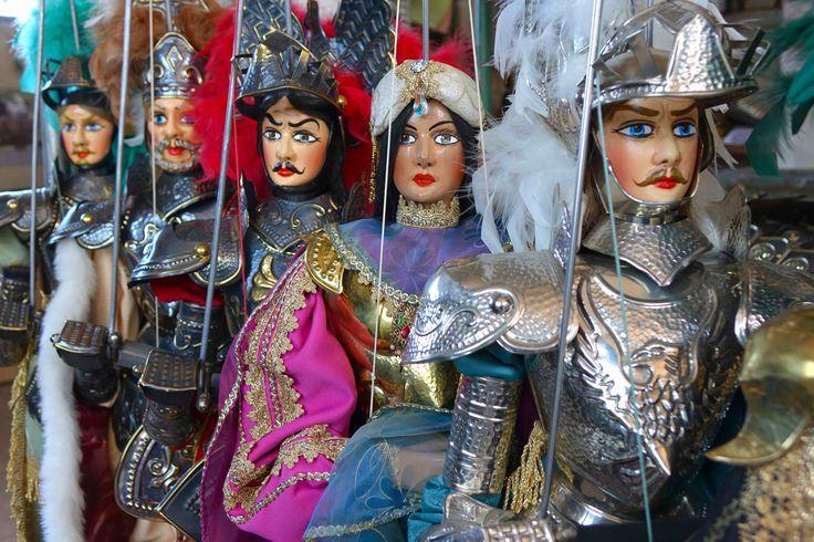 I miei pupi siciliani pronti per scendere in campo - My Sicilian puppets ready to go in the arena