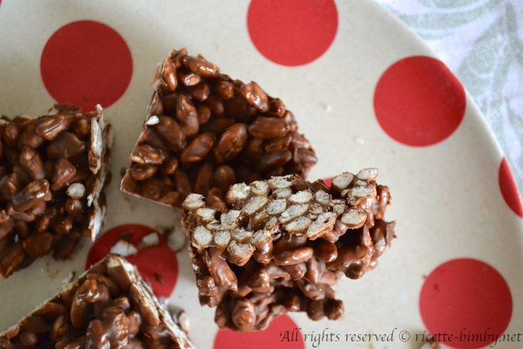 Barrette di cioccolato e riso soffiato bimby