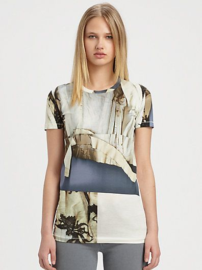 Acne - Printed Cotton-Jersey Tee