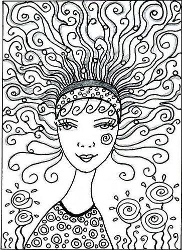 doodle girl: Doodle Girl, Tekenen Zentangle Doodles, Art Doodles Stamps Zentangles, Doodle Zentangle Draw, Girls Zentangle, Hair, Doodling Zentangles, Photo, Doodles Zentangles Fun
