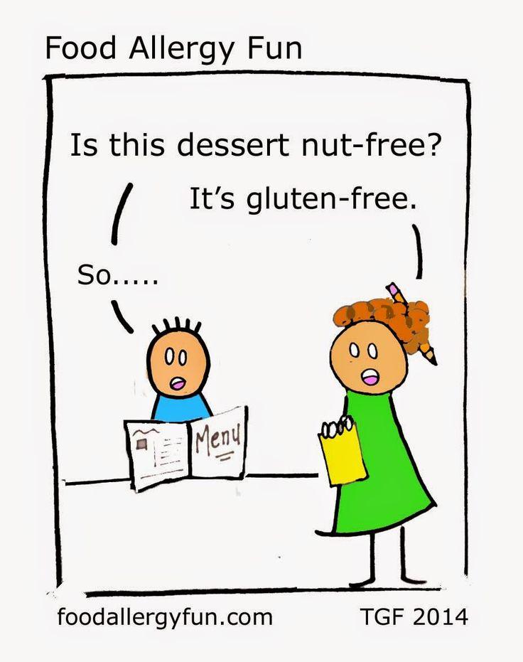 Food Allergy Fun: Dessert - Food Allergy Cartoon