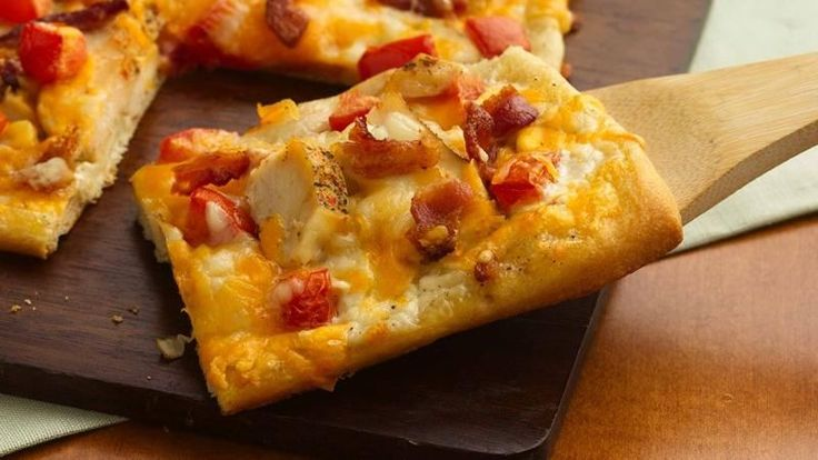 Everyone's favorite quick meal gets a hearty topping of pre-cooked chicken and Italian seasonings and extra cheese, all atop easy prepared pizza dough.