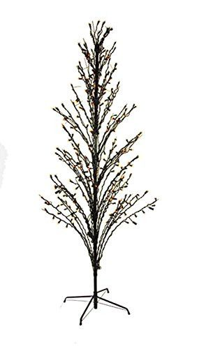 Felices Pascuas Collection 4' Orange LED Lighted Halloween Cascade Twig Tree Outdoor Yard Art Decoration