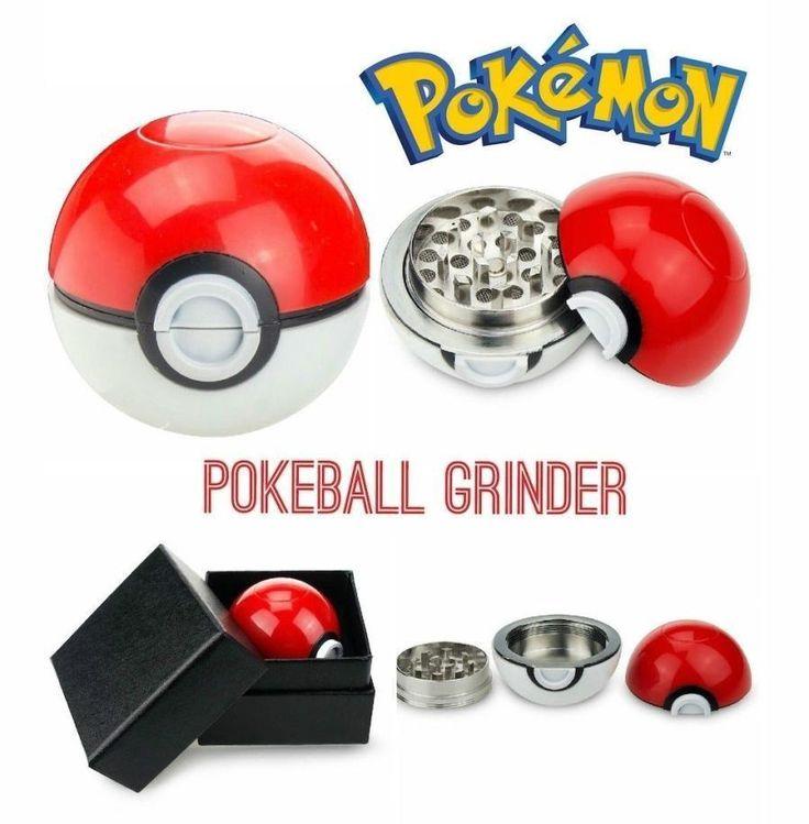 Pokeball herb grinder, great gift for Pokemon fans.