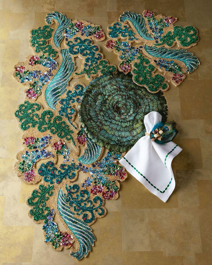 Kim Seybert Jewel Masquerade Table Runner