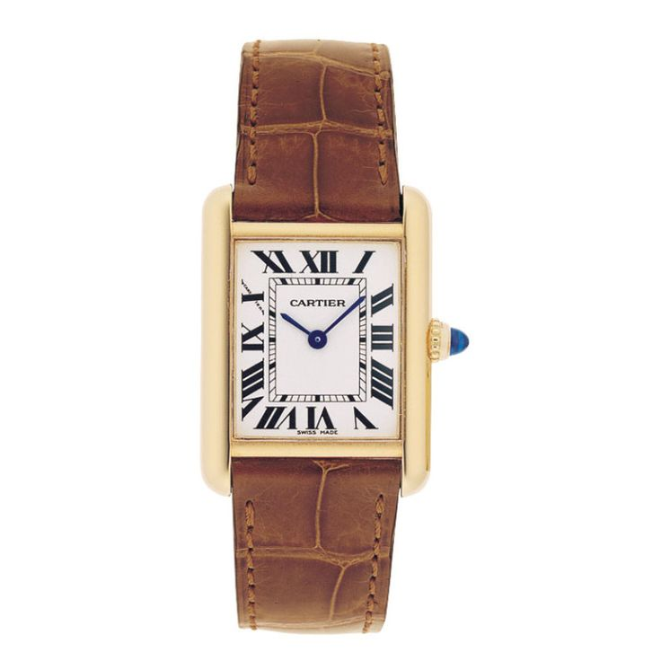 Cartier tank watch, price upon request, cartier.us.-Wmag