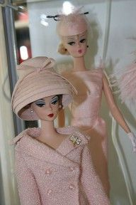 wonderful vintage Barbie dolls...very Dior: Hats, Retro Barbie, Pink Outfit, Soft Pink, Vintage Pink, Pale Pink, Pink Fashion, Vintage Barbie, Barbie Dolls