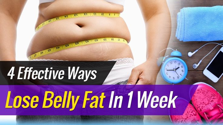 How To Lose BELLY FAT In 1 Week - 4 Effective Ways | (Drop One Size)! https://www.youtube.com/watch?v=0BTX0cq6IO0