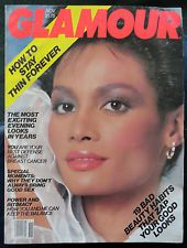 Vtg GLAMOUR 11/1982 Lingerie Perfume fur makeup ads Cheryl Tiegs Joan Severance