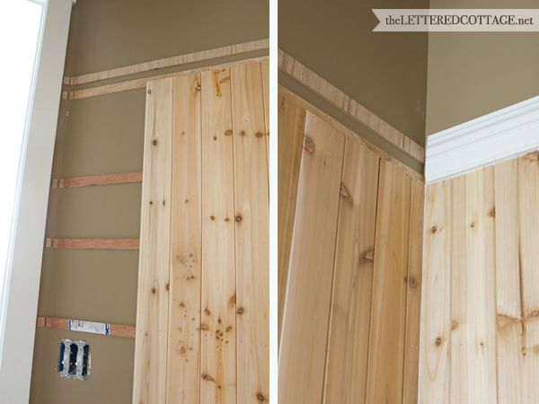 Great Example Of Putting Up Your Own Bead Board Look Half