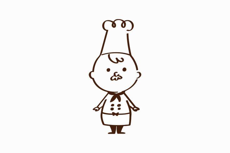 『様々なバリエーションで活躍するコックさんのキャラクターデザイン』  コムデザインラボがお届けするスピンオフ事業で、ケーキ屋さん・パン屋さんに特化したホームページ『はらペコデザインラボ』で登場するキャラクター、はらさんです。 色々なポーズ展開により、ホームページ自体に動きが出来て、様々な表情を見せてくれます。