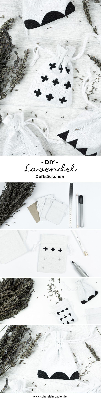 Ideal DIY Lavendels ckchen im Skandinavischen Design selber machen Auf dem Blog zeige ich euch wie