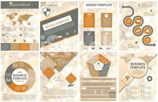 Elegant Business Report Template On A Polygon Background royalty-free stock vector art