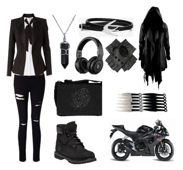 """""""School's uniform"""" by captain-chan ❤ liked on Polyvore featuring Miss Selfridge, Diane Von Furstenberg, Timberland, Bling Jewelry, Nicholas K, Crawlspace Studios, Maisto, McQ by Alexander McQueen, Alexandre Vauthier and Black"""