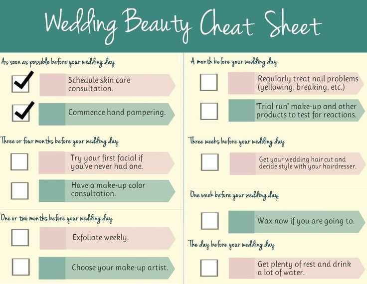Wedding Tips! An ultimate #wedding beauty #planning checklist.