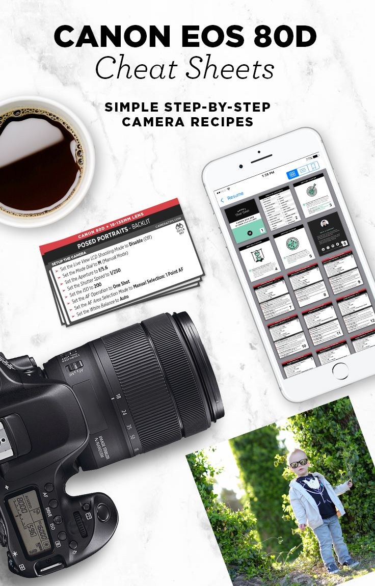 Custom camera settings for the Canon EOS 80D to help you
