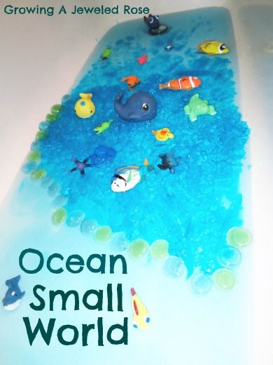 Growing A Jeweled Rose: Messy Play in the Bath- Jello Ocean: Sensory Bath, Bath Tubs, Jello Ocean, Ocean Small, Messy Plays, Jello Bath, Sensory Plays, Bath Plays, Jewels Rose